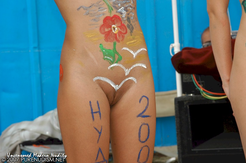 FKK Nude Teen Pageant, Body Painting Art